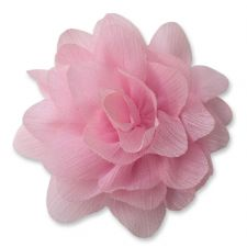 7cm Lily LIGHT PINK  Fabric Flower Applique